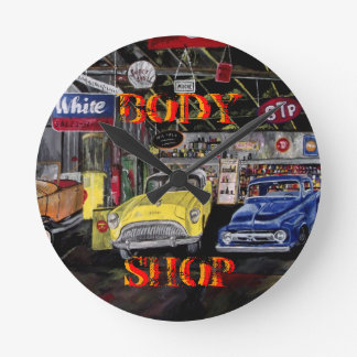 Body Shop Old Car Wall Clock