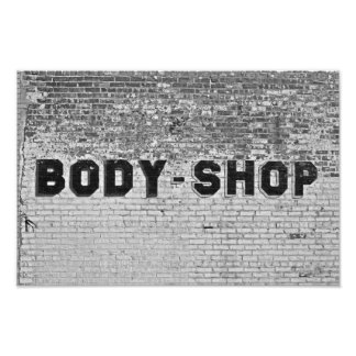 Body Shop Photo Print