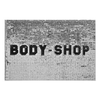 Body Shop Photo Print
