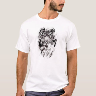 body torn by tiger T-Shirt
