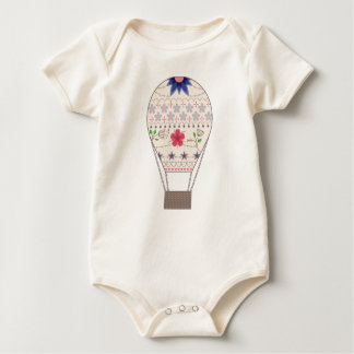 Body with air balloon vintage baby bodysuit