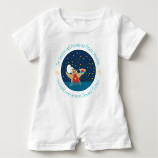 Body with starfishes & rhyme baby bodysuit