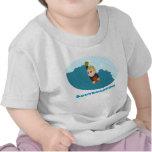 Bodyboarding boy cartoon T-shirt