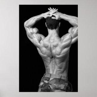 Bodybuilder Back Poster