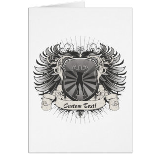 BodyBuilder Crest Greeting Card