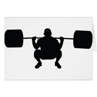 Bodybuilder Greeting Card