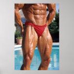 Bodybuilder Leg Poster