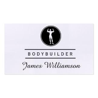 BODYBUILDER Logo Black  Gym Sports Athlete Pack Of Standard Business Cards