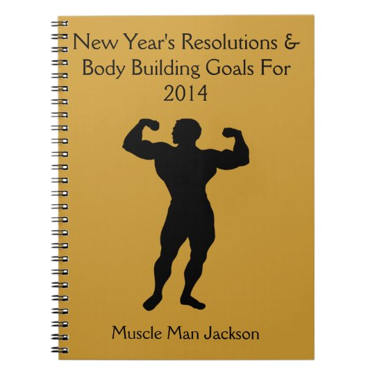 Bodybuilder Notebook Journal - Customisable
