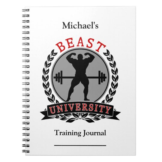 Bodybuilding Beast University Training Journal Notebooks