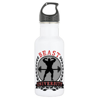 Bodybuilding Beast University Water Bottle