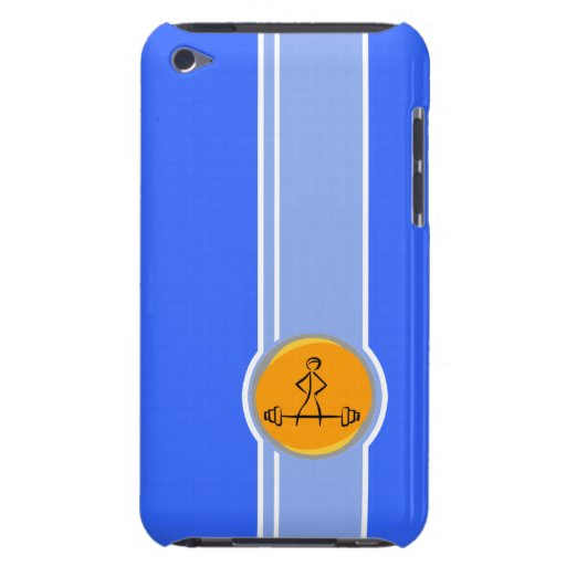 Bodybuilding; blue & orange iPod touch covers