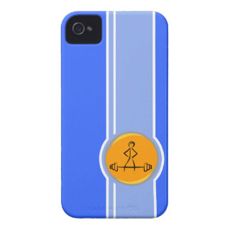 Bodybuilding; blue & orange iPhone 4 Case-Mate cases