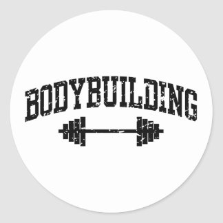 Bodybuilding Classic Round Sticker