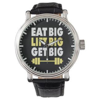Bodybuilding - Eat Big, Lift Big, Get Big Wrist Watch