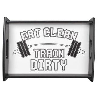 Bodybuilding - Eat Clean Train Dirty Food Trays