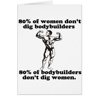 Bodybuilding Gay humor Greeting Card