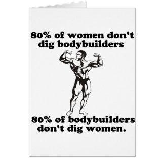 Bodybuilding Gay humor Greeting Card