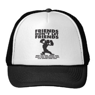 Bodybuilding Humor - Skip Leg Day Trucker Hat