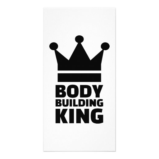 Bodybuilding king champion photo card