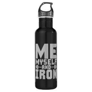 Bodybuilding Motivation - Me, Myself and Iron 710 Ml Water Bottle