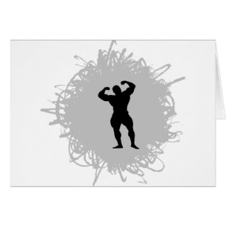 Bodybuilding Scribble Style Cards