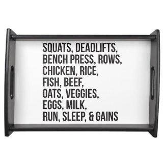 Bodybuilding Service Tray