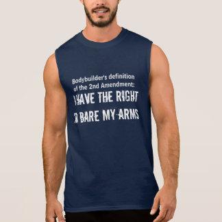 Bodybuild's Second Amendment Definition Sleeveless Tees