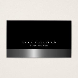 Bodyguard Bold DarkChrome SilverServices Business Card