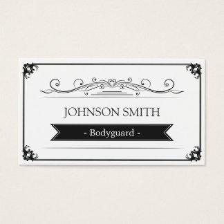Bodyguard - Classy Vintage Frame Business Card