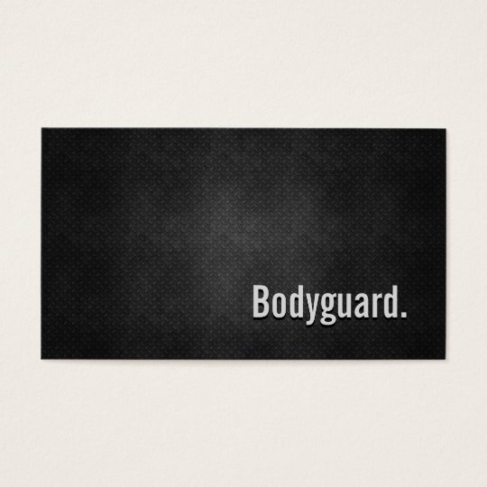 Bodyguard Cool Black Metal Simplicity Business Card