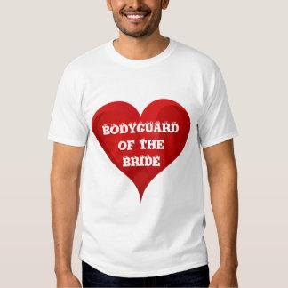 Bodyguard of The Bride Funny Heart Wedding Bridal T-Shirt