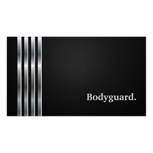 Create your own bodyguard business cards for Bodyguard business cards