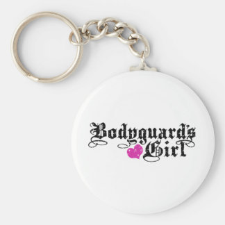 Bodyguard's Girl Basic Round Button Key Ring