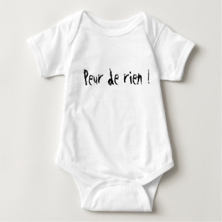 """Bodystocking """"Fear of nothing!"""" Baby Baby Bodysuit"""