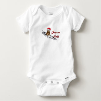 Bodystocking white baby Teddy, surfing and Baby Onesie