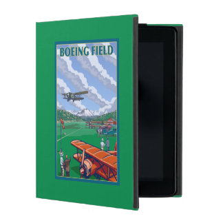 Boeing Field Vintage Travel Poster iPad Cover