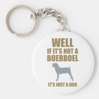 Boerboel Basic Round Button Key Ring