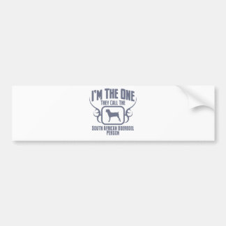 Boerboel Car Bumper Sticker