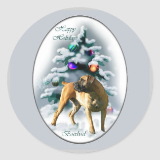 Boerboel Christmas Gifts Classic Round Sticker