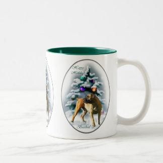 Boerboel Christmas Gifts Two-Tone Coffee Mug