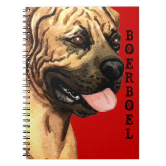 Boerboel Color Block Spiral Notebooks