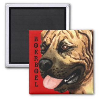 Boerboel Color Block Square Magnet