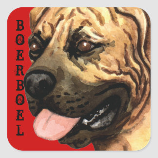 Boerboel Color Block Square Sticker