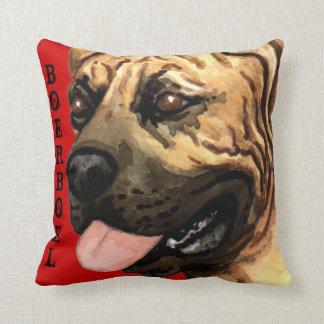 Boerboel Color Block Throw Pillow