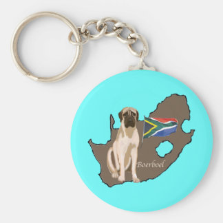 Boerboel Dog Basic Round Button Key Ring