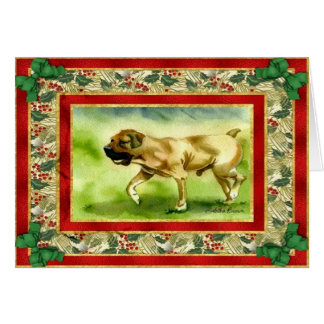 Boerboel Dog Blank Christmas Card