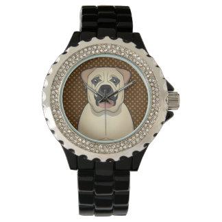 Boerboel Dog Cartoon Paws Watches