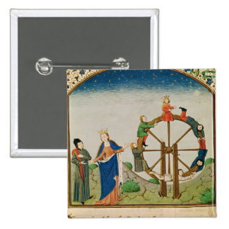 Boethius with the Wheel of Fortune 15 Cm Square Badge