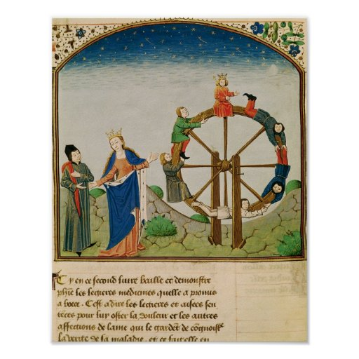 Boethius with the Wheel of Fortune Poster